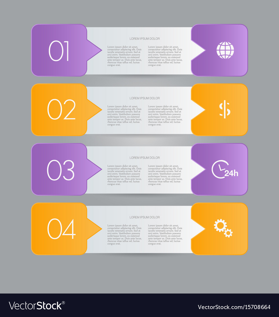 Infographic banner template for website design vector image