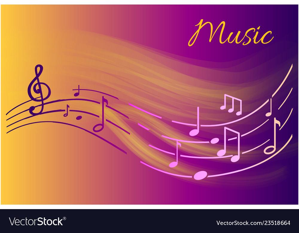 Music notes melody visual representation on sheet