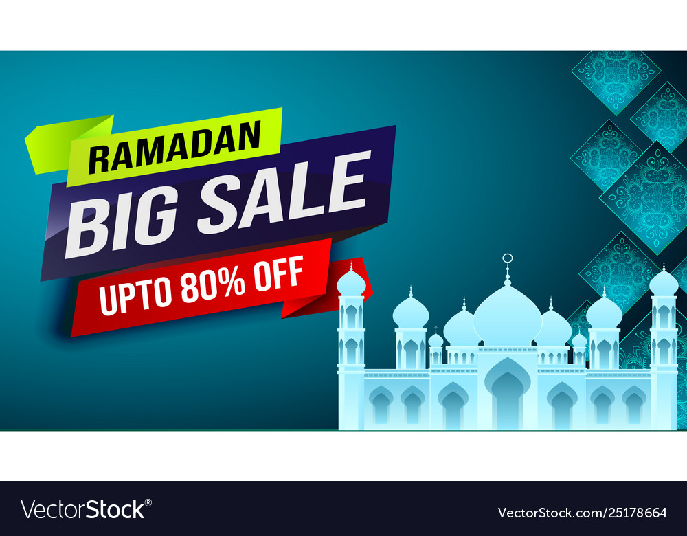 Ramadan big sale web header or banner poster