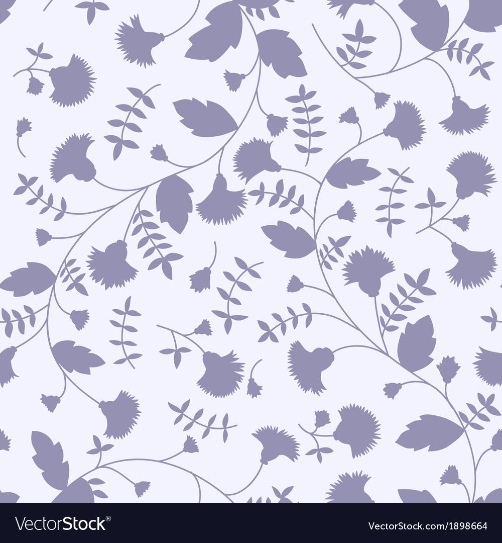 Silhouettes of flower cornflower vector image