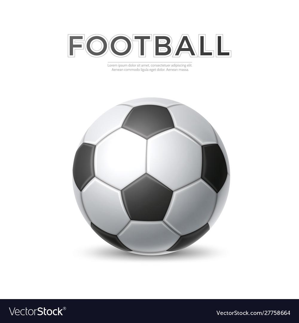 Soccer ball football sport 3d icon
