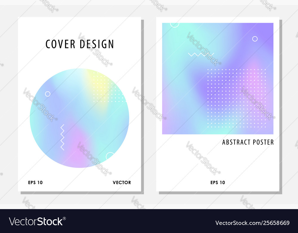 Abstract cover set with holographic elements