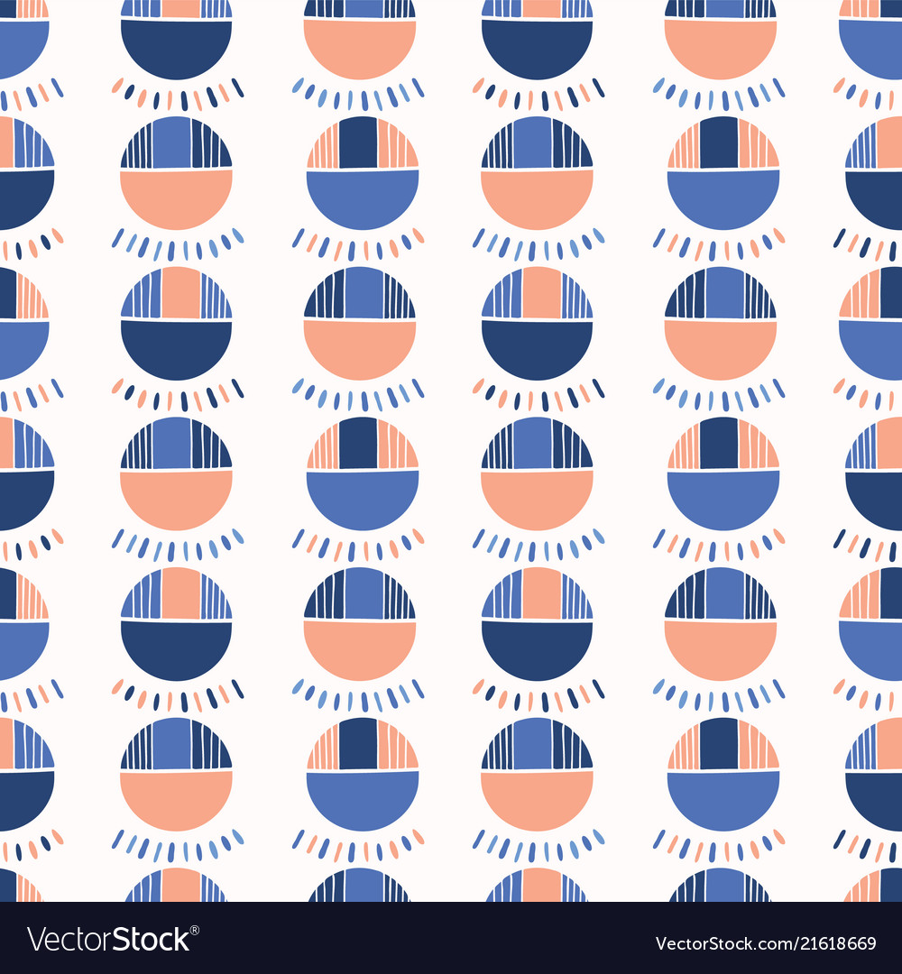 Abstract geo polka dot pattern blue