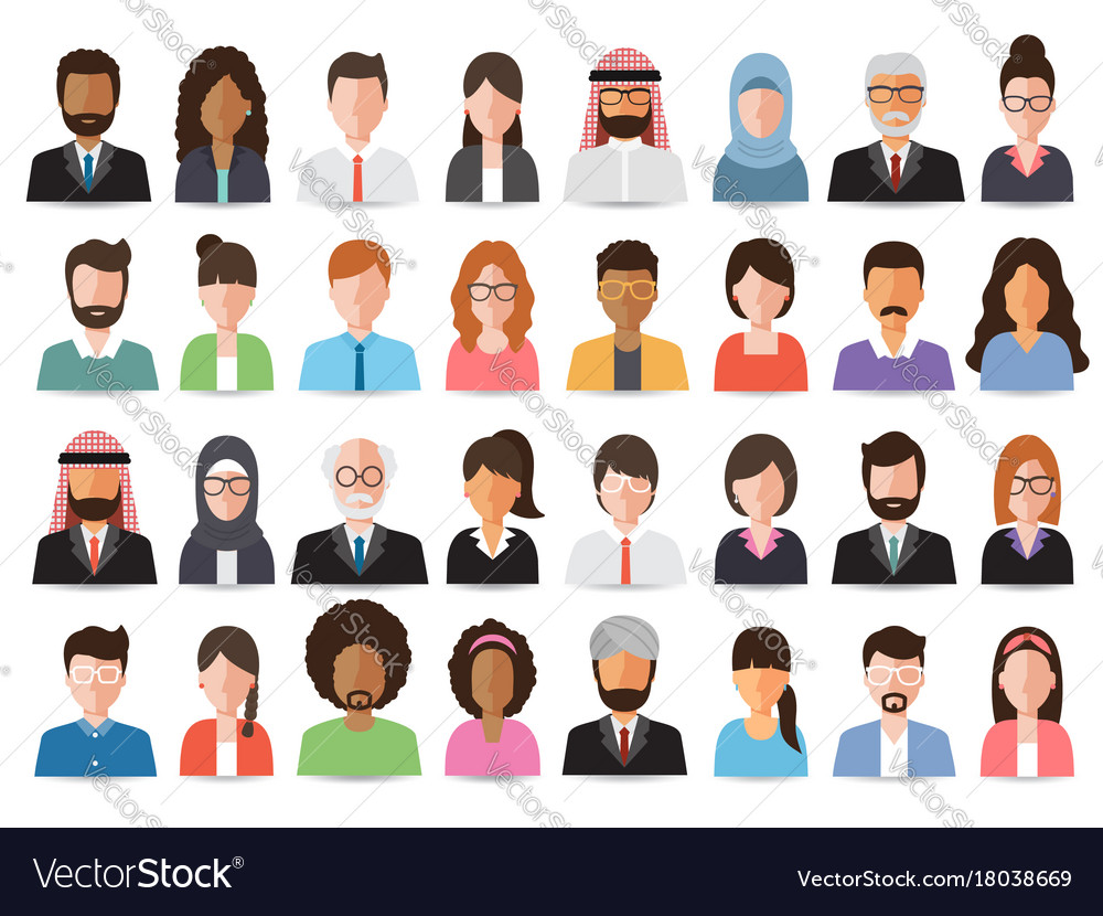 Businessmen and business women avatars
