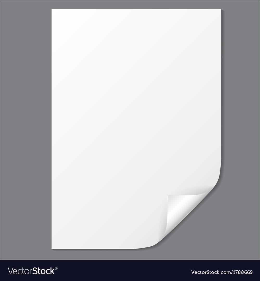 Empty paper sheet EPS10