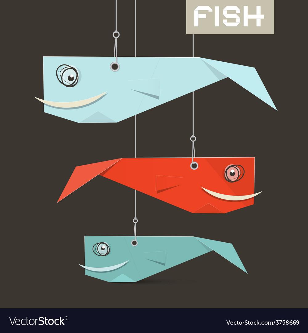 Paper Fish Hang on Strings