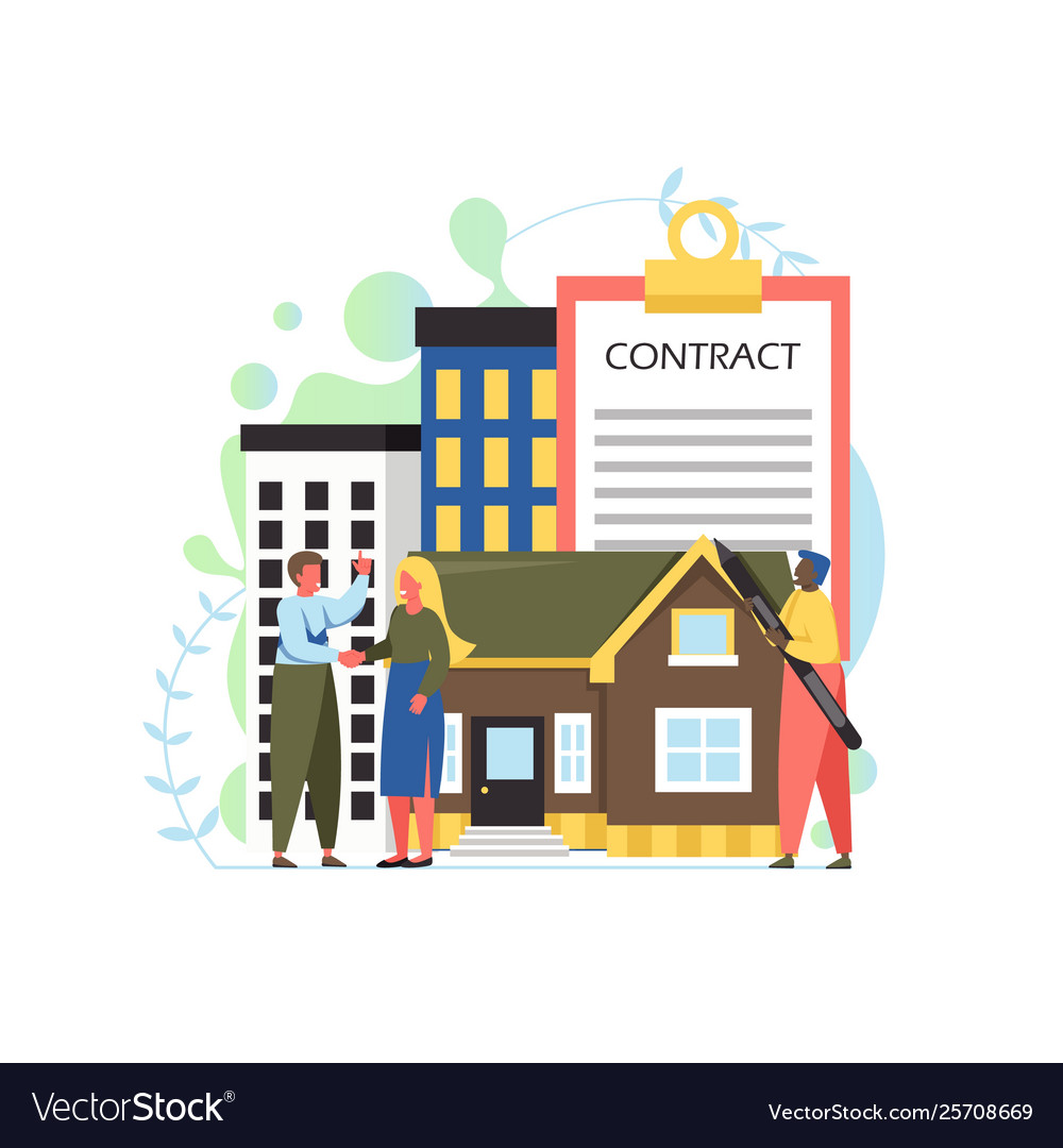 Property concept flat style design