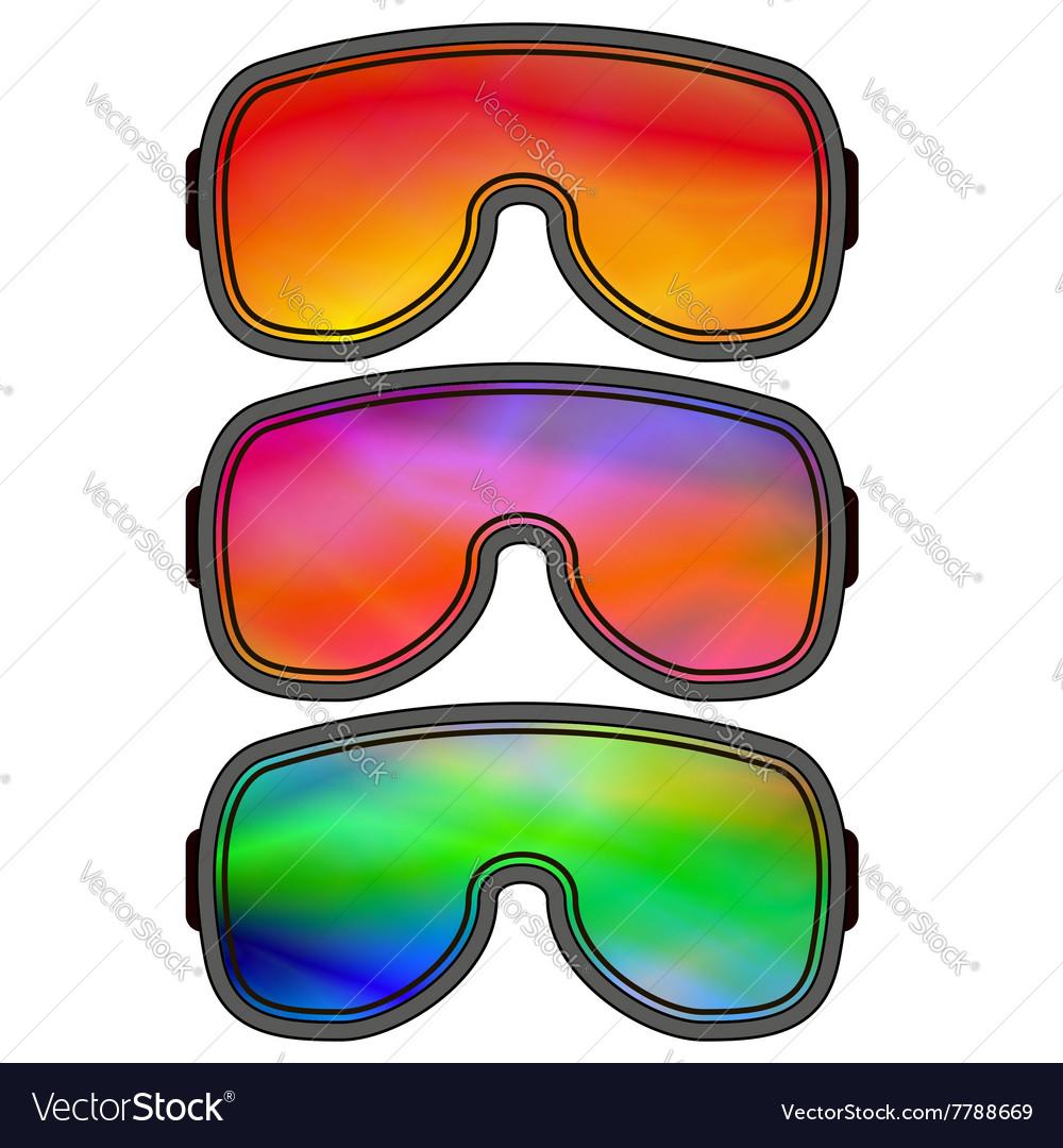 Set of Different Ski Goggles