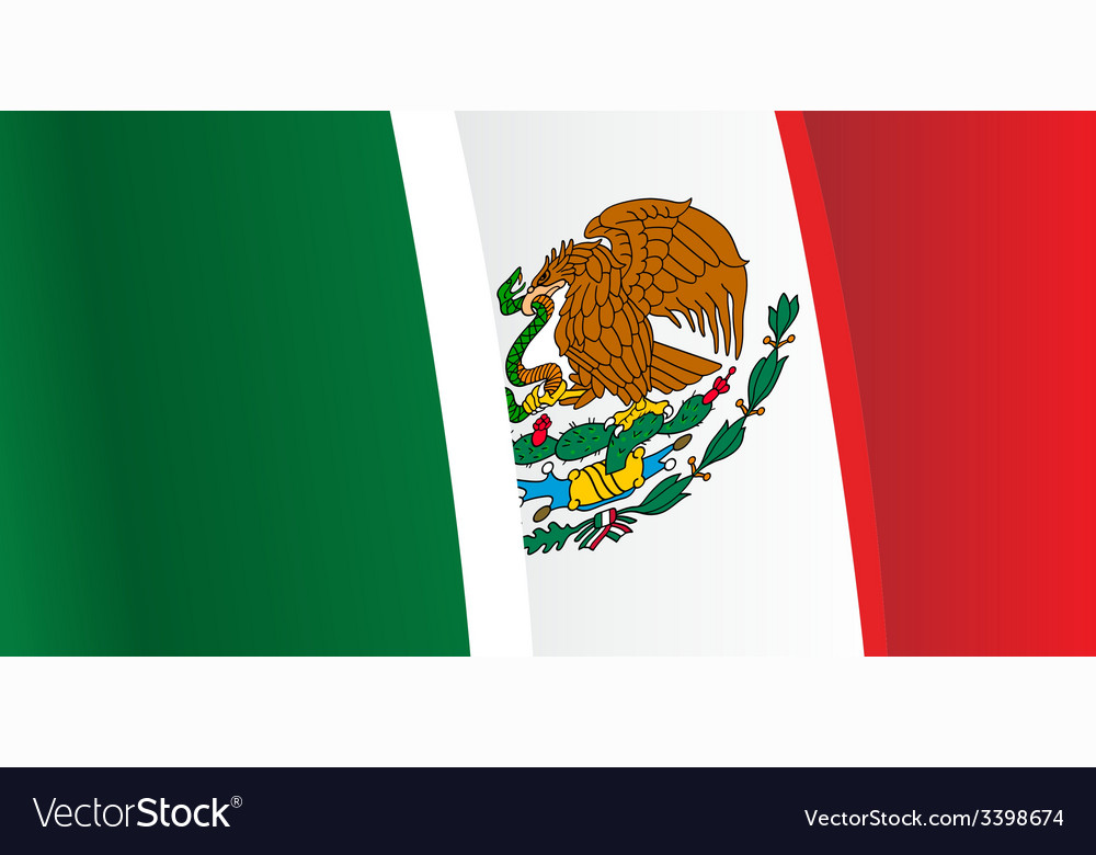 background with waving mexico flag royalty free vector image rh vectorstock com mexican flag vector mexico flag vector free