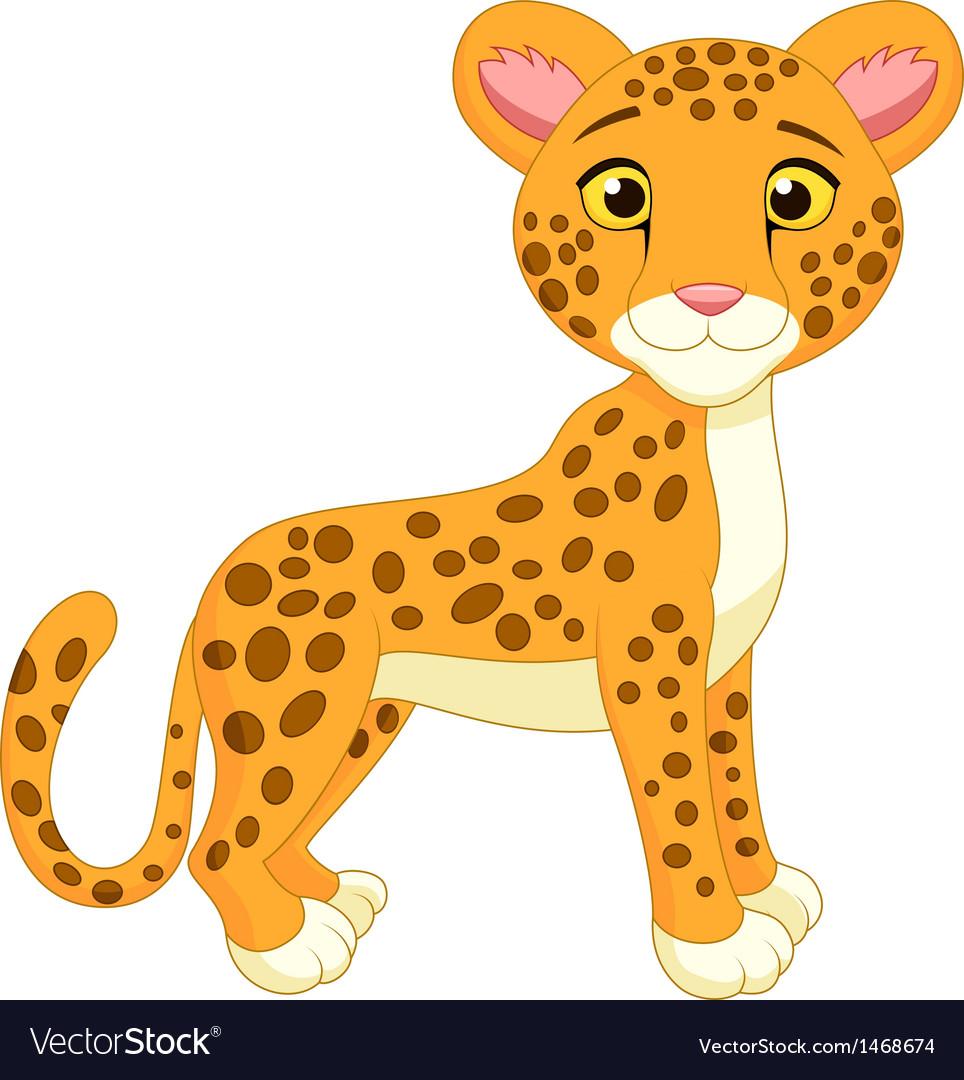 Cite cheetah cartoon vector image