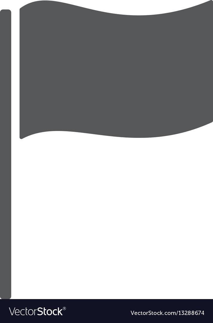 Flag icon location marker symbol vector image