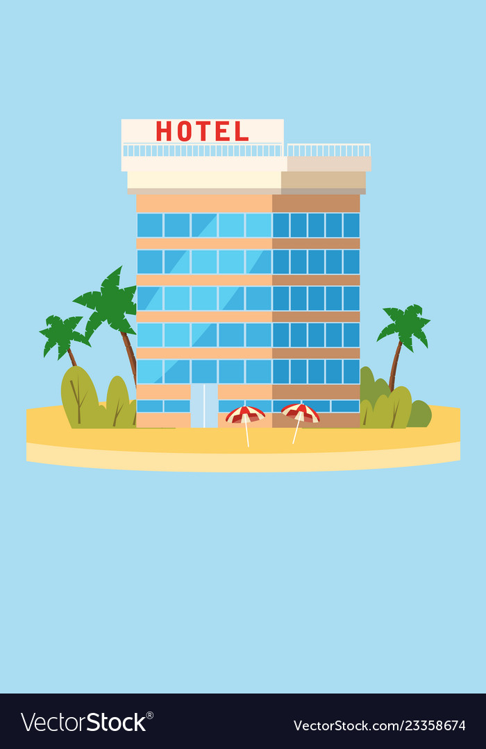 Hotel vacation travel tropical island building