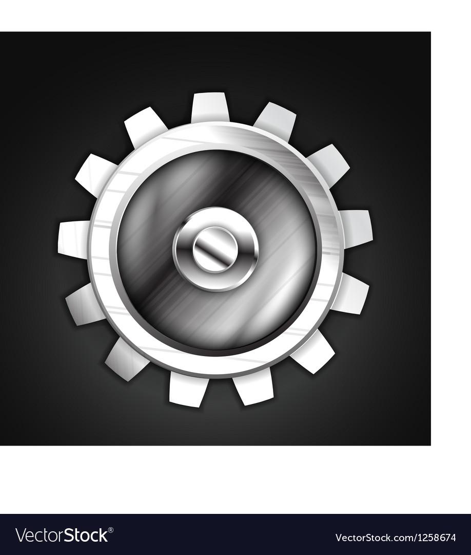 Metallic gear icon design
