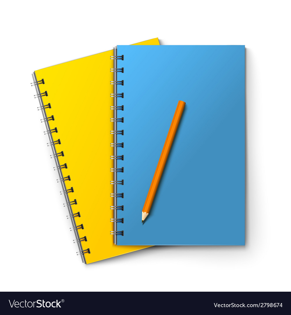 Notepads and pencil