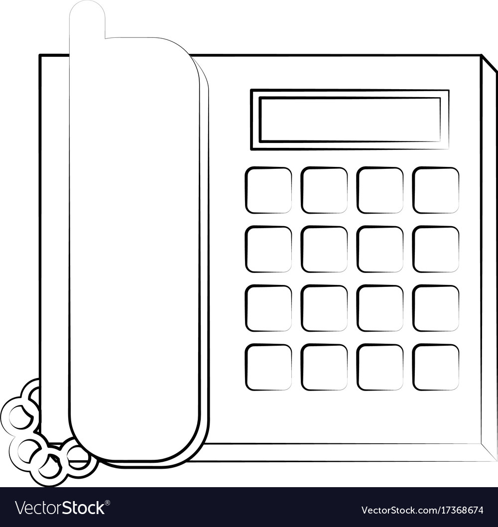 Office landline phone icon image vector image on VectorStock