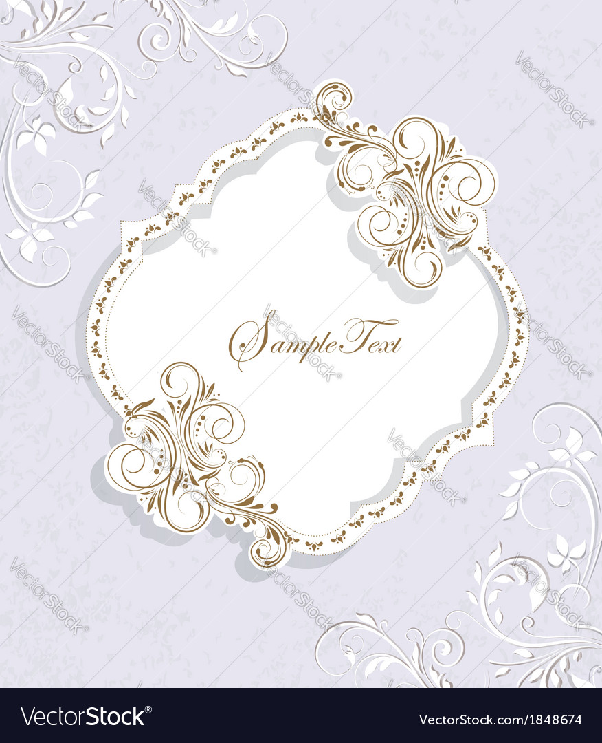 Ornate frame with floral elements