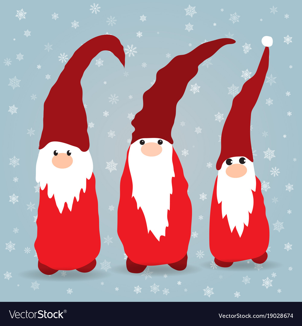 Christmas Gnomes Images.Scandinavian Christmas Gnomes In Winter Background