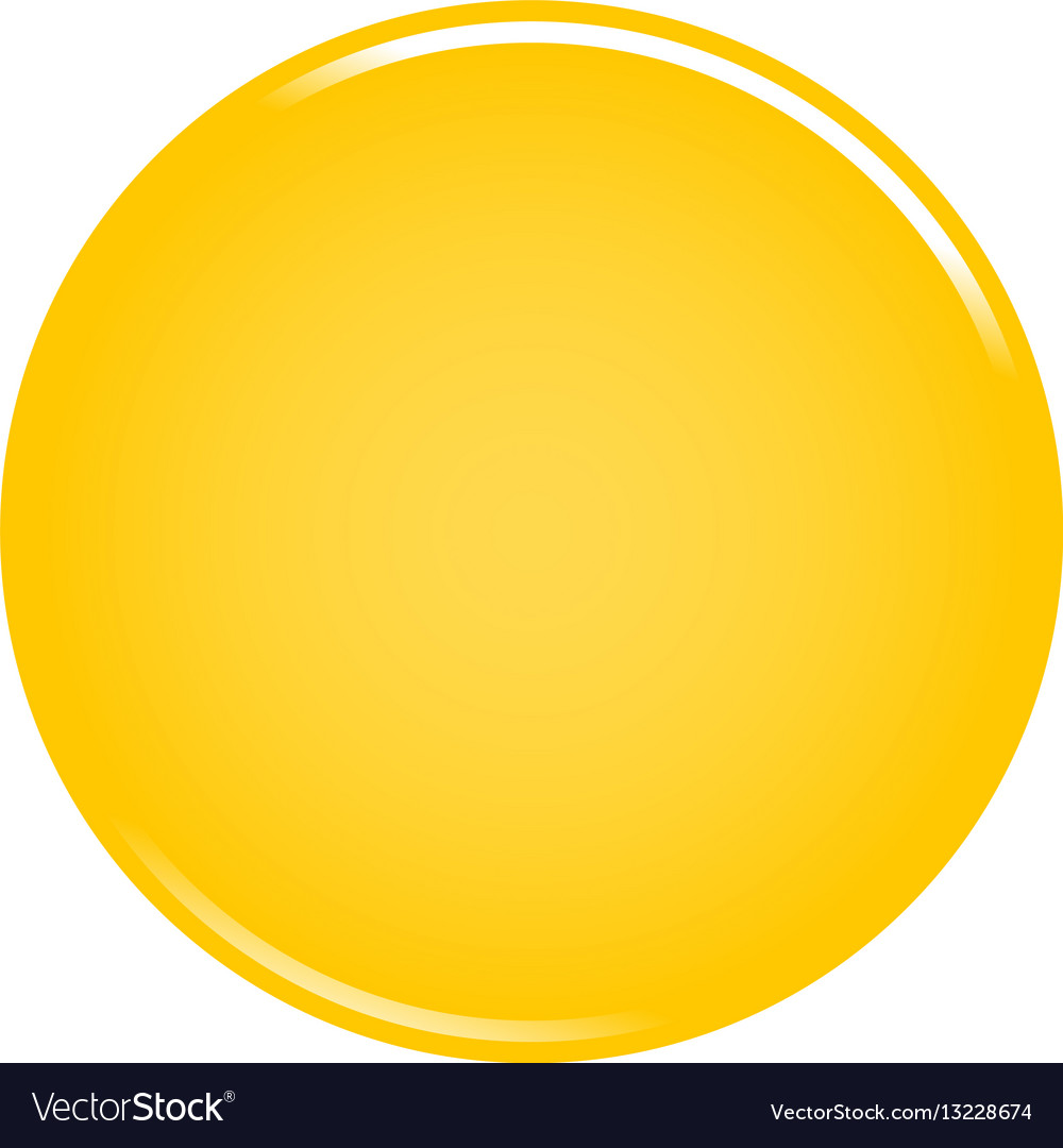 yellow circle button blank web internet icon vector image