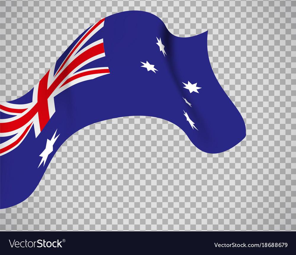 Australia flag on transparent background vector image