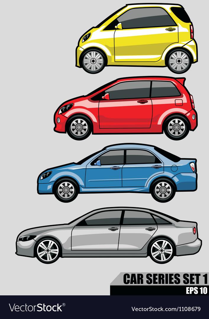 Cars series set 1 vector image