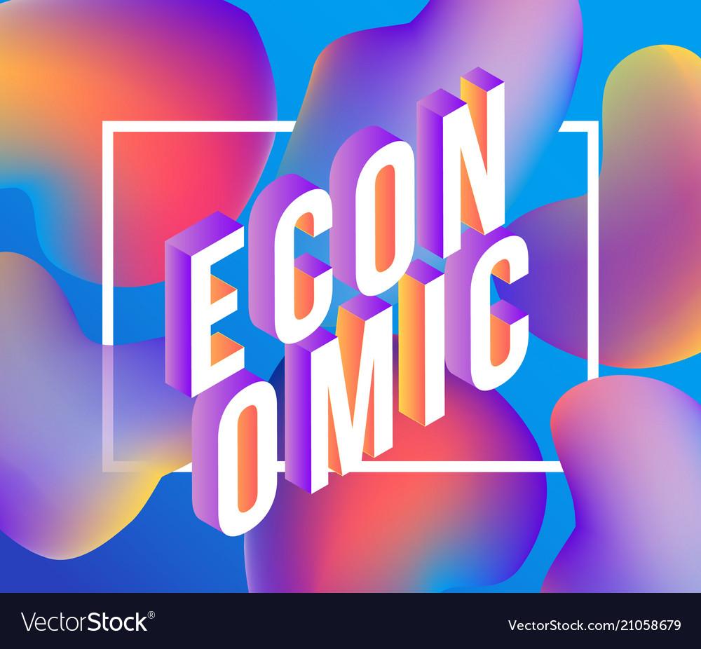 Economic gradient isometric word design - colorful