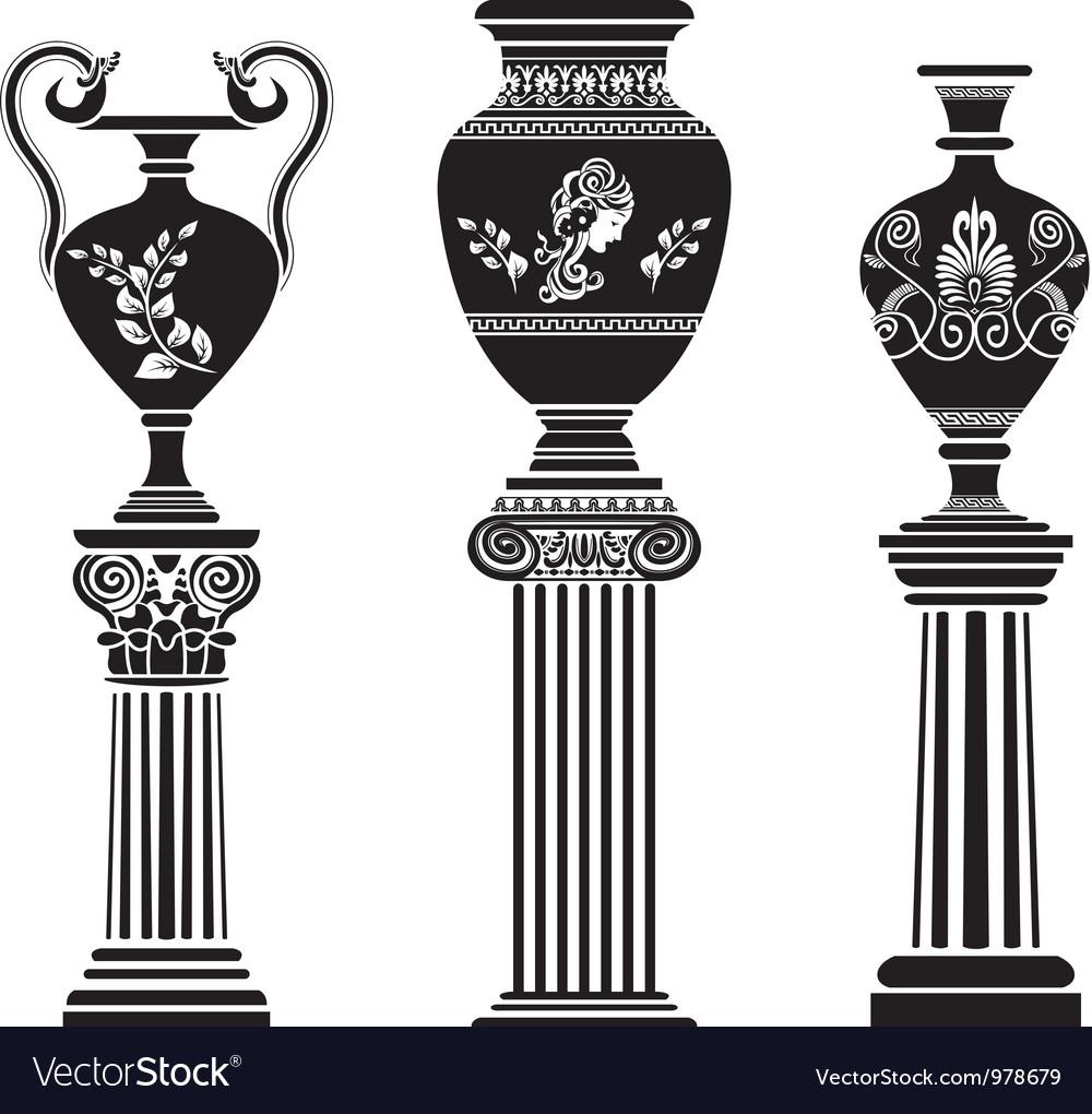 Greek vases 2 vector image