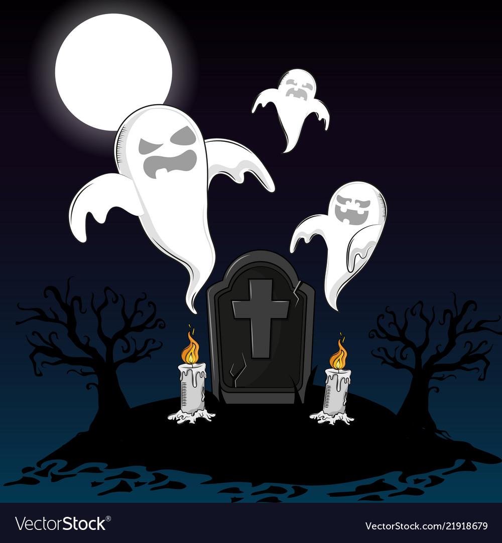 halloween scary cartoons royalty free vector image