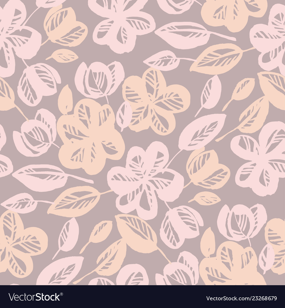 Pastel Rose Shade Abstract Flower Seamless Pattern