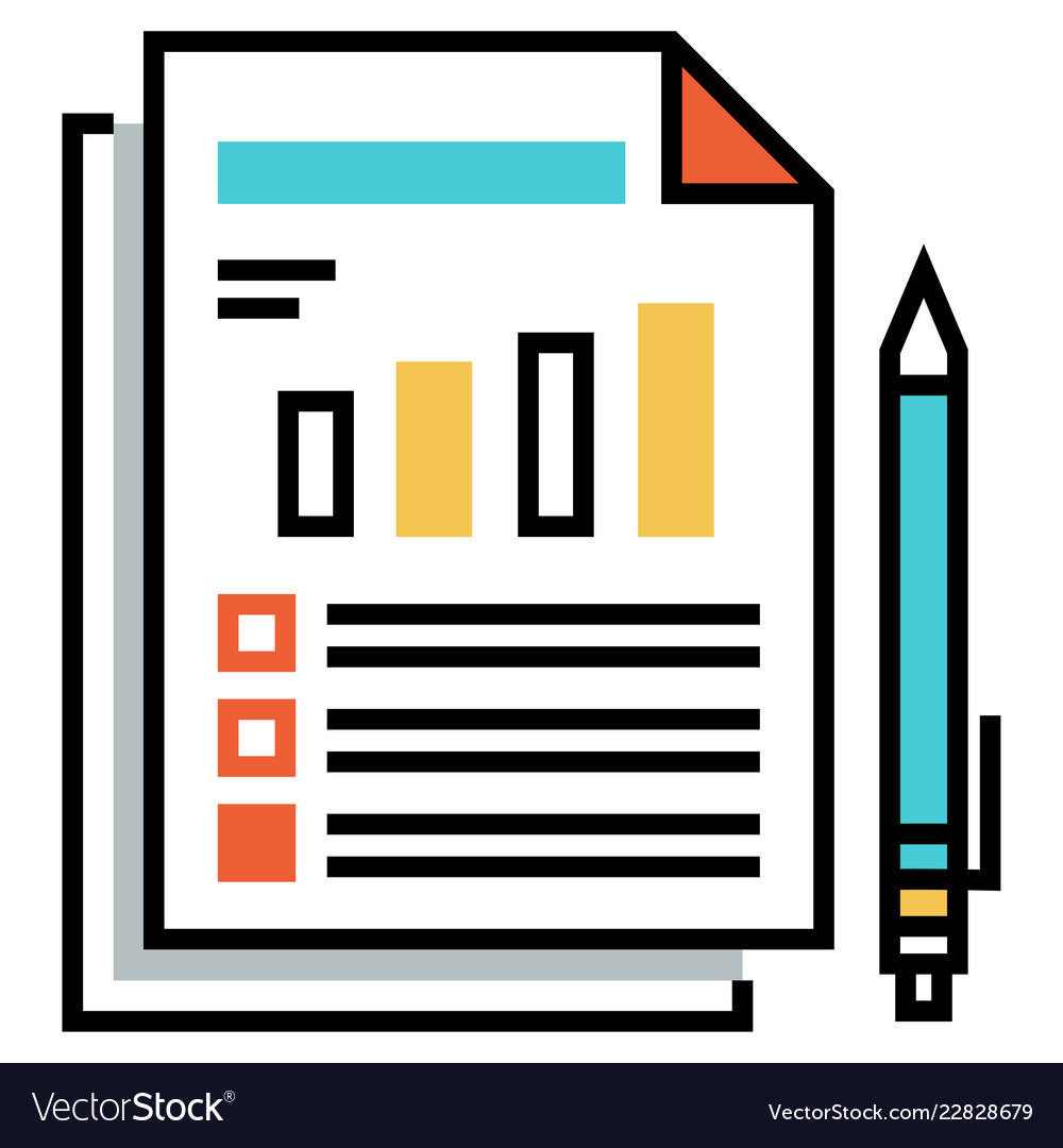Risk Assessment Flatoutline Royalty Free Vector Image Affordable and search from millions of royalty free images, photos and vectors. vectorstock