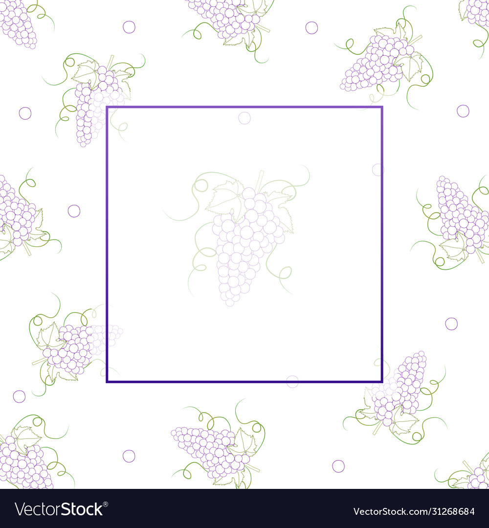 Colorful line grape banner on white background