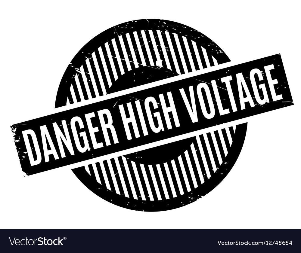 Danger High Voltage rubber stamp Royalty Free Vector Image