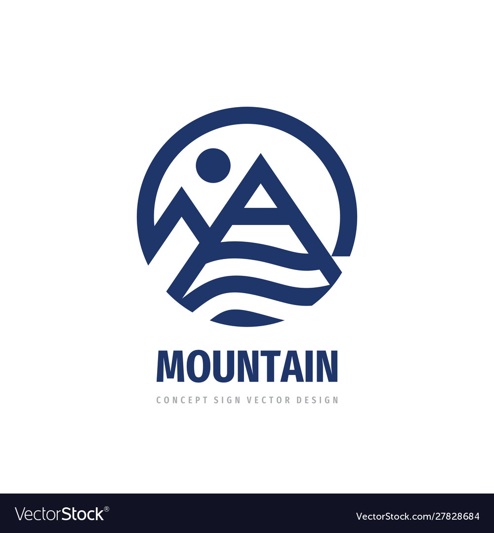 Mountain logo template design concept graphic vec