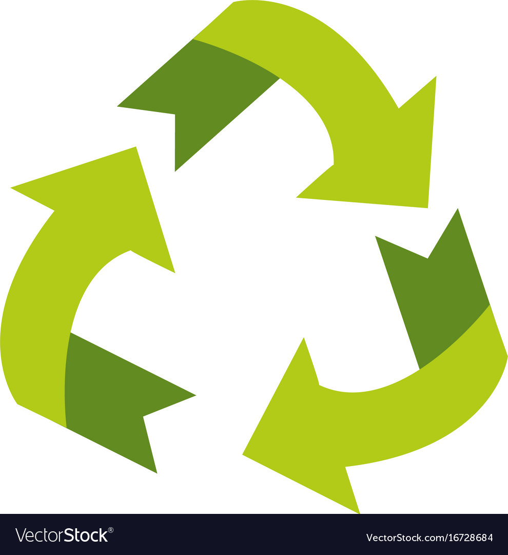 Recyclable Eco Friendly Icon Image Royalty Free Vector Image