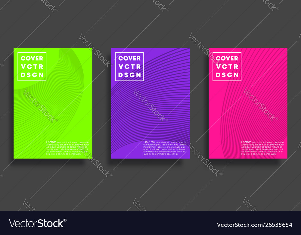 Set cover templates with lines minimal design