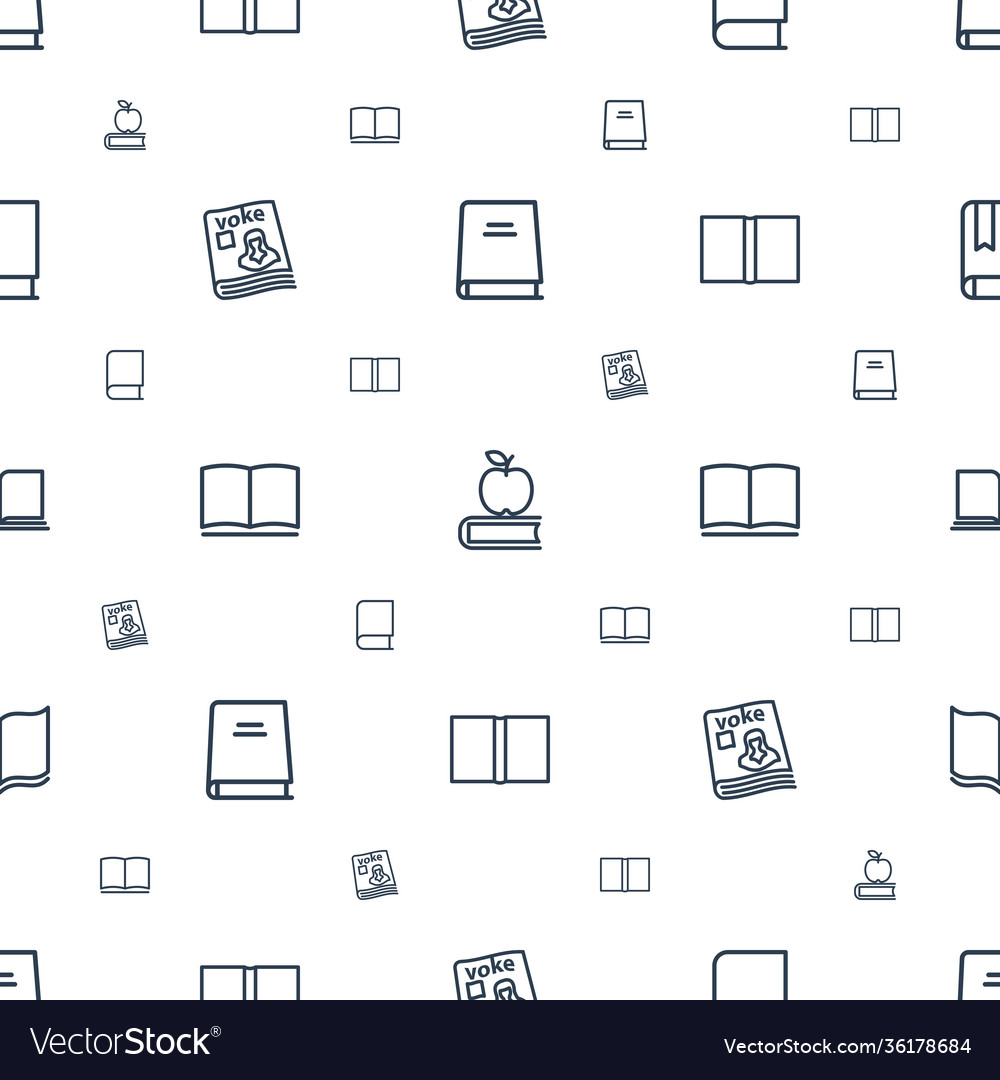 Textbook icons pattern seamless white background