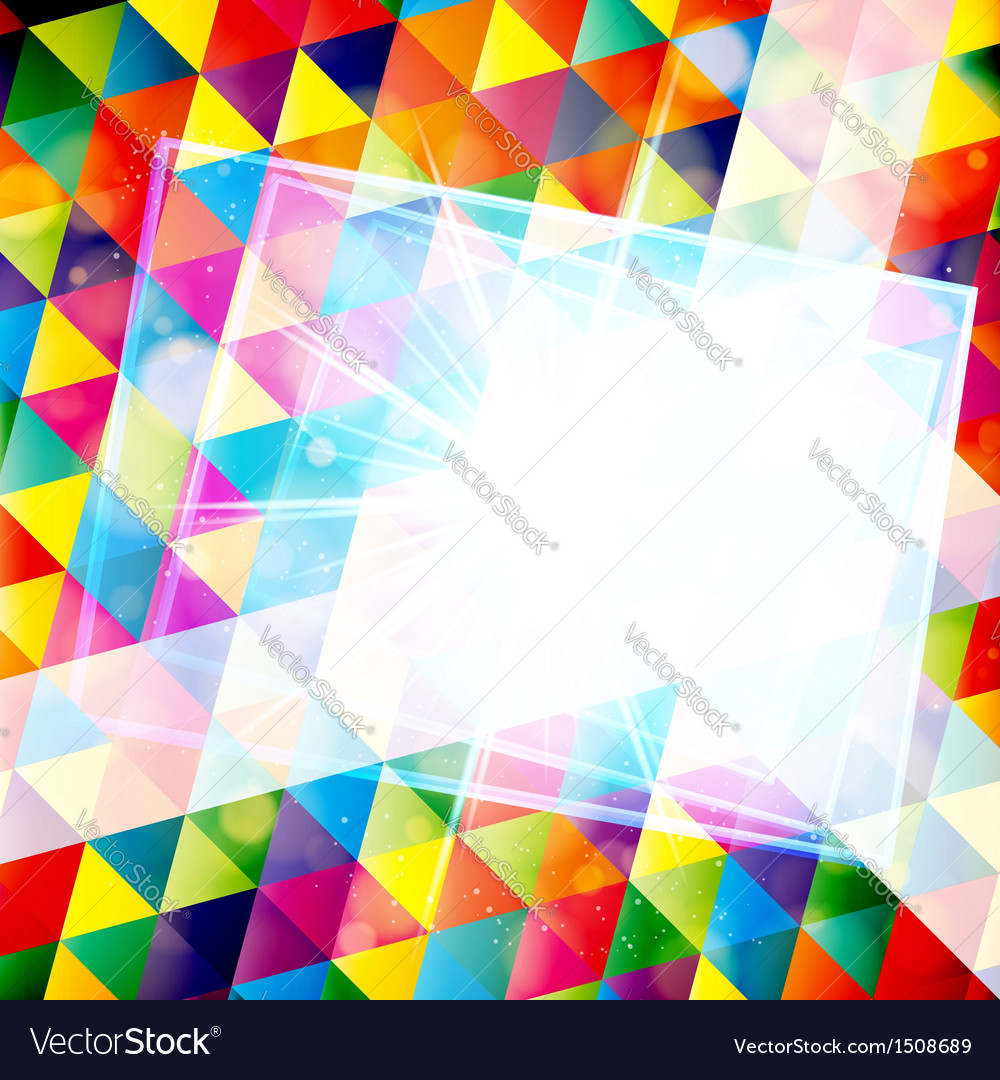 Abstract colorful mosaic background vector image