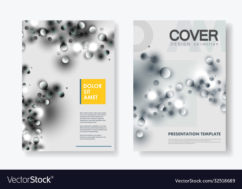 Abstract layout a4 format cover design templates
