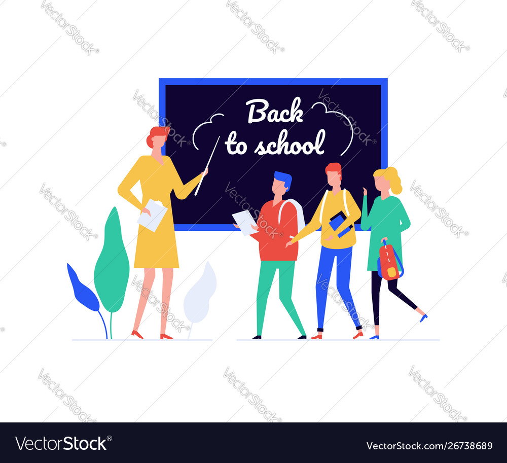 Back to school - flat design style