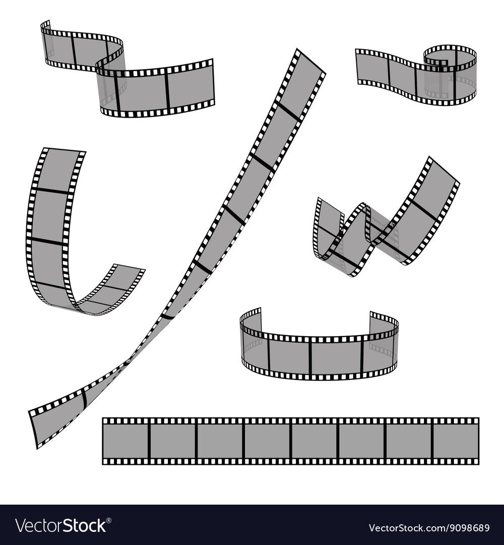 Cinema film strip roll 35mm blank slide frame