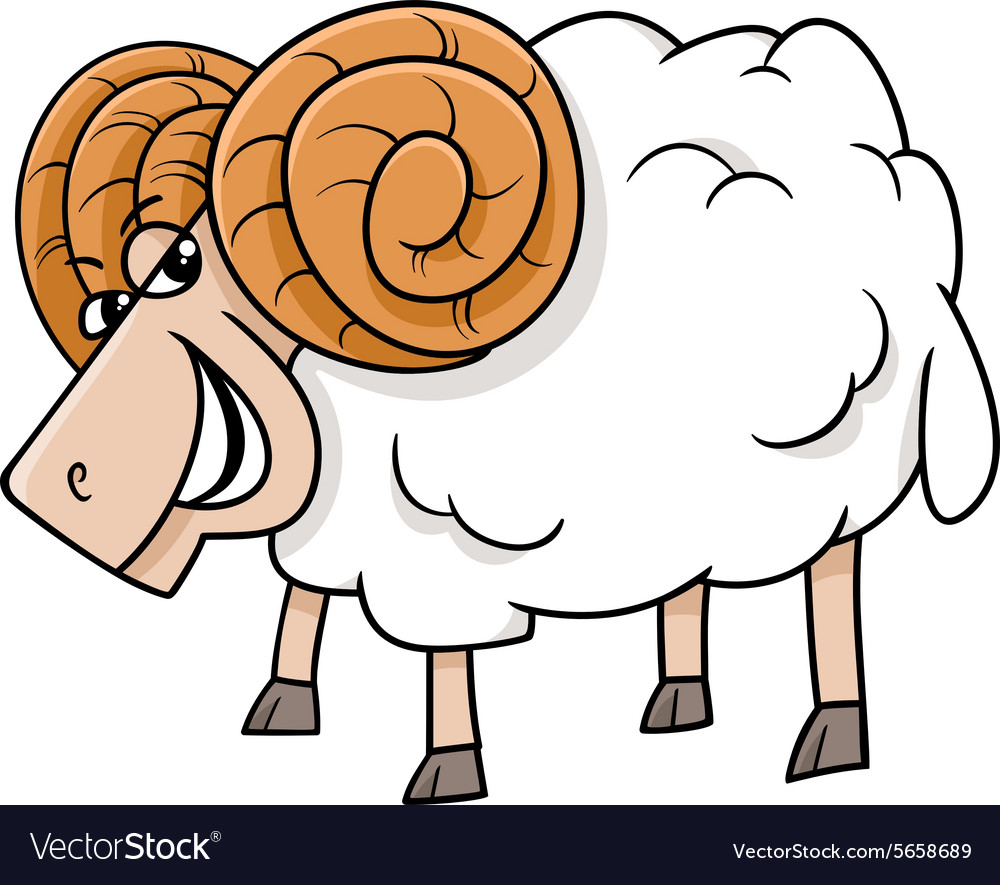 Ram farm animal cartoon vector image