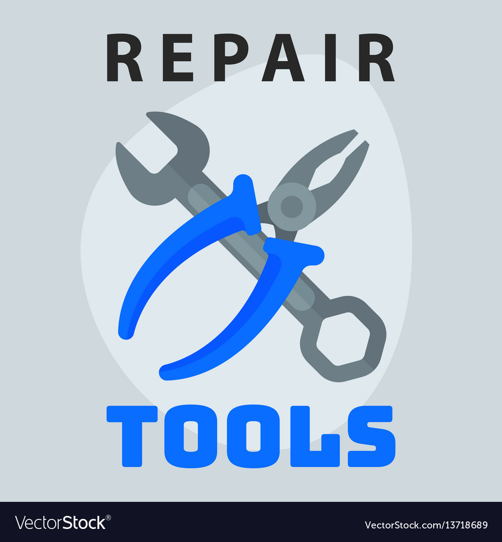 Repair tools pliers wrench icon creative graphic