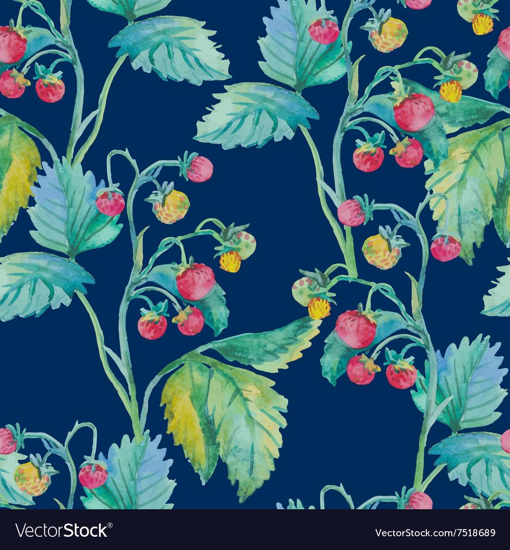 Strawberry pattern Watercolor Berries