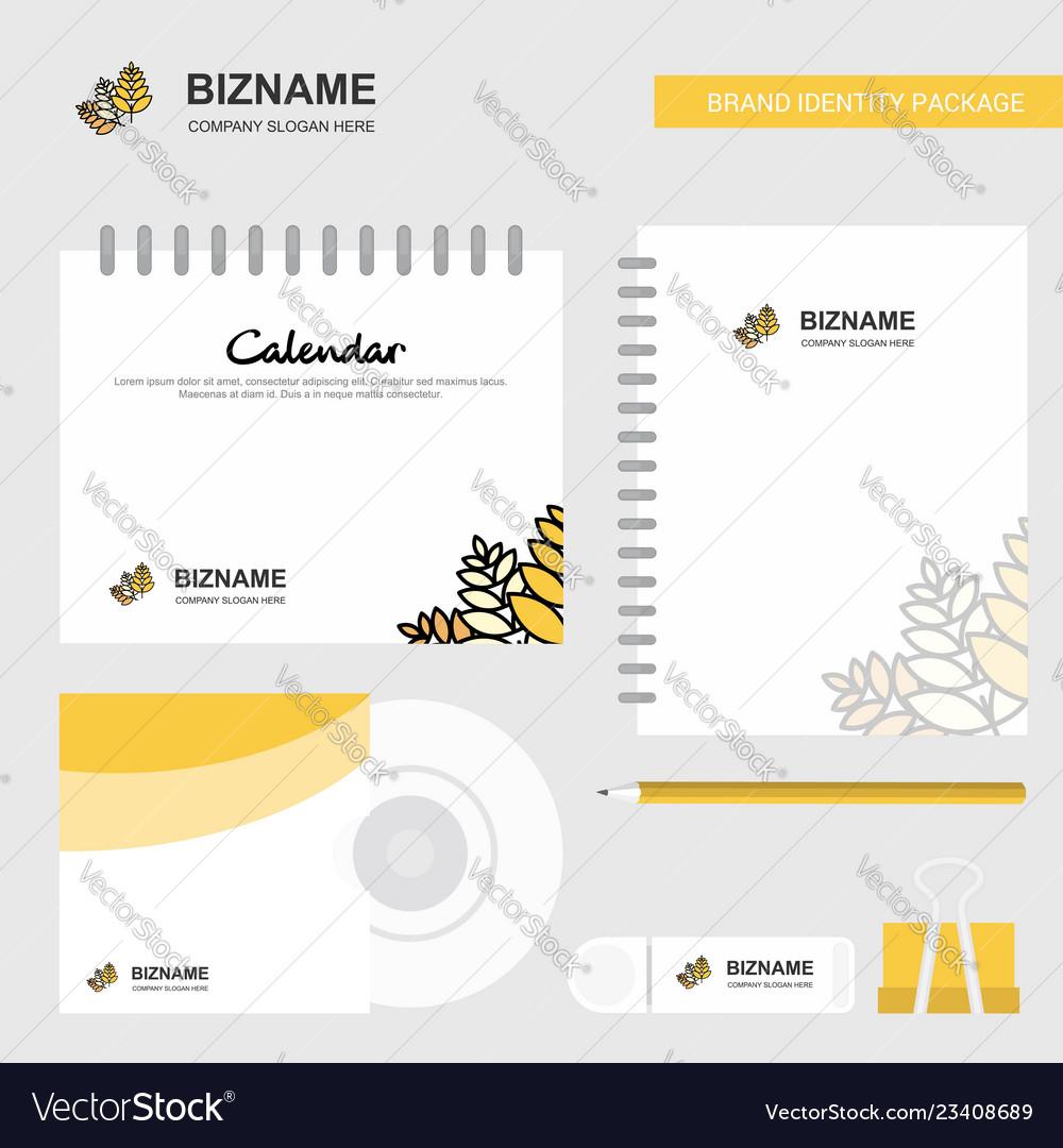 Wheat logo calendar template cd cover diary and