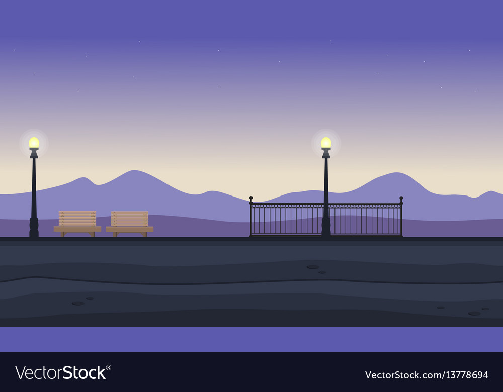Background of chair and lamp landscape vector image