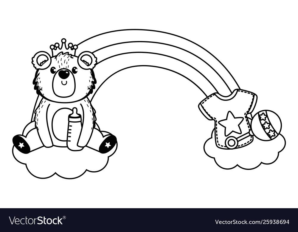 Basymbol And Teddy Bear Design Royalty Free Vector Image