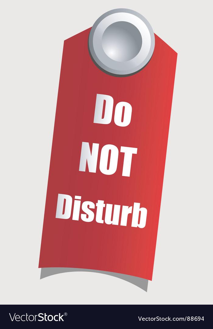 Do not disturb vector image