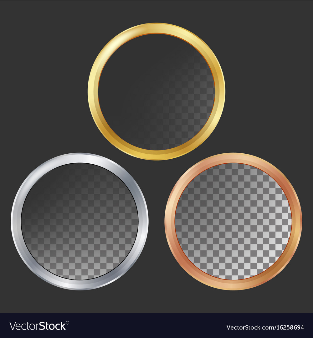 Gold Silver Bronze Copper Metal Frames Royalty Free Vector
