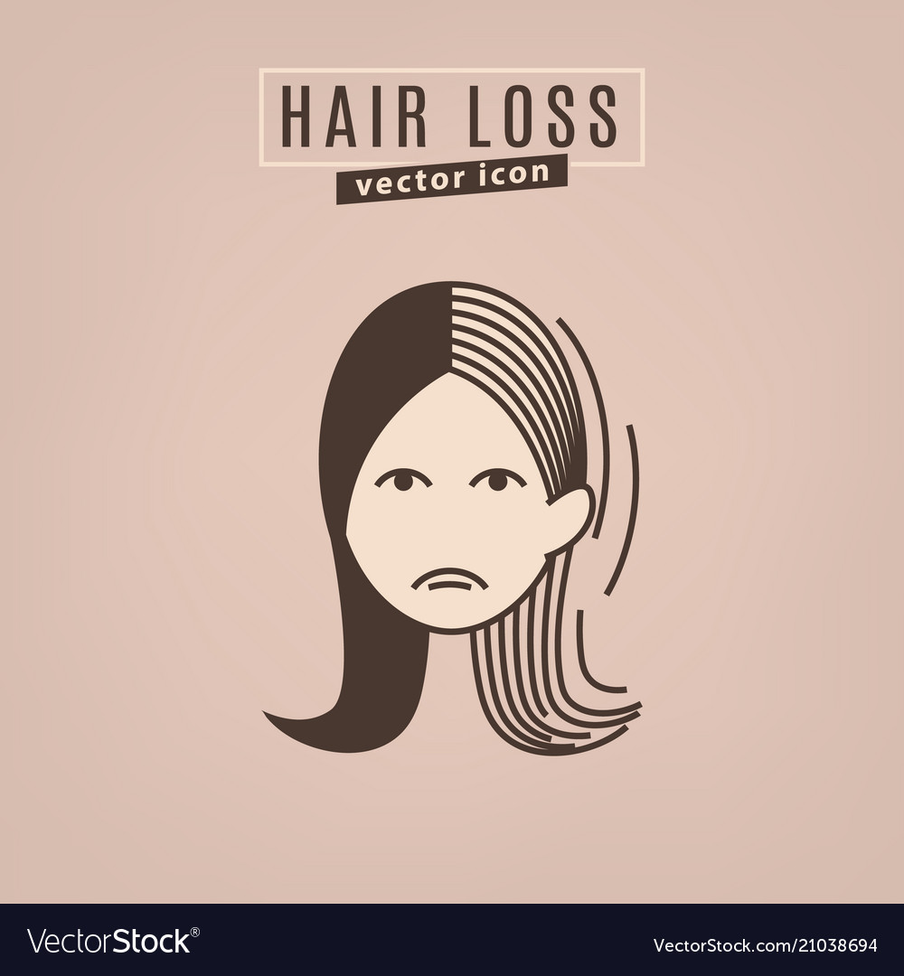 Hair Loss Icon Royalty Free Vector Image Vectorstock