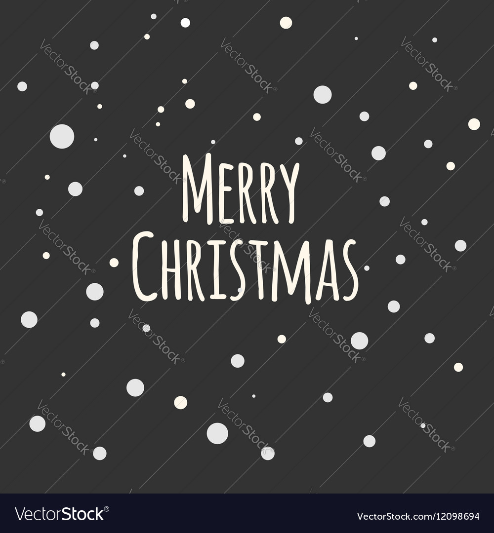 Snow night background Greeting Card Merry