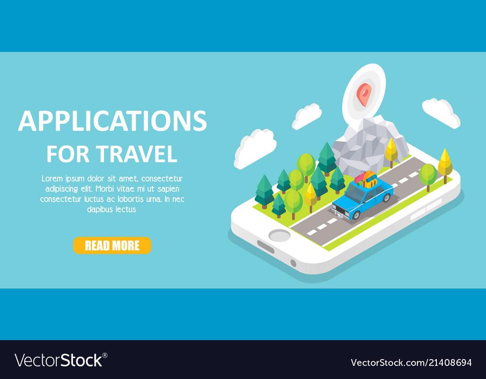 Travel apps isometric